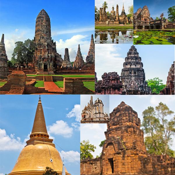 โบราณสถานสำคัญจากแหล่งอารยธรรมทั่วไทย